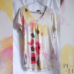 Beautiful quality Tricotto t-shirt flower pattern